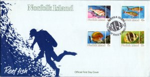 Norfolk Islands, Worldwide First Day Cover, Fish