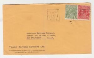 AUSTRALIA, 1935 cover, KGV 1d. Green, 2d. Red, Sydney to USA.