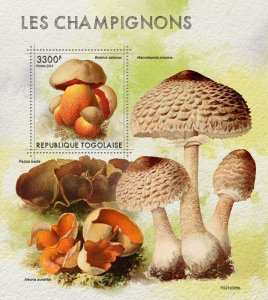 TOGO - 2021 - Mushrooms - Perf Souv Sheet - Mint Never Hinged