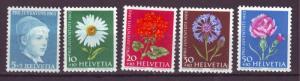 J17385 JLstamps 1963 switzerland set mh #b329-33 flowers