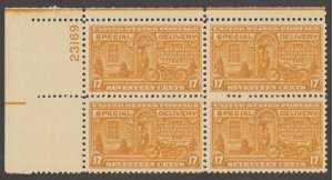 U.S. Scott #E18 Special Delivery Stamp - Mint NH Plate Block