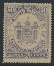 North Borneo  SG 82 MLH please see scans & details