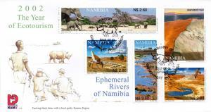 Namibia - 2002 Ephemeral Rivers FDC SG 922-926