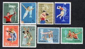 North KoreaVictories at Int. Sports Meetings 1974 Used Set