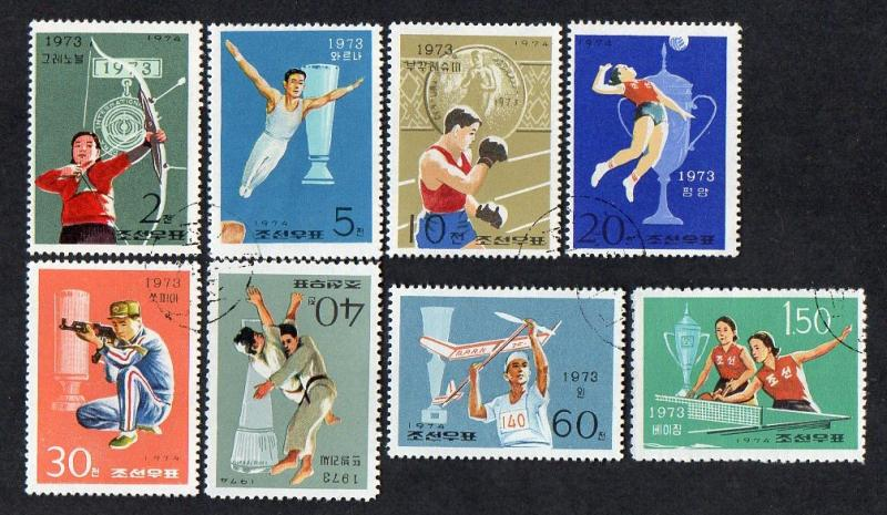 North KoreaVictories at Int. Sports Meetings 1974 Used Set