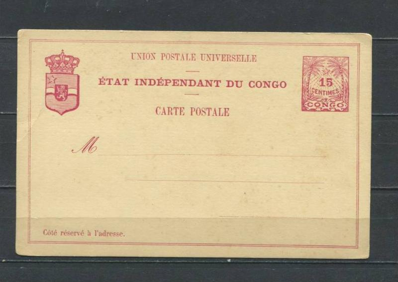 Etat Independance Of Congo Postal Stationary Cards Unused