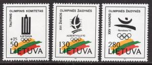 Lithuania MNH 422-4 Olympic Emblems 1992 SCV 2.00