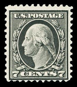 Scott 507 1917 7c Black Washington Mint Fine OG HR Cat $24