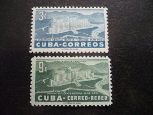 Stamps - Cuba - Scott# 531,C107 - Mint Hinged Set of 2 Stamps