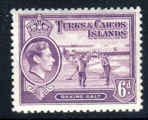 TURKS & CAICOS-,,,1938-45...SG 201  .. 6d    mnh um    cv £24