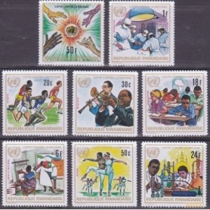 Rwanda MNH 486-93 Fight Against Racism 1972 8 Stamps