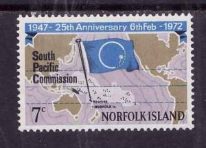 Norfolk Is.-Sc#149-Unused NH set-Map of South Pacific-1972-