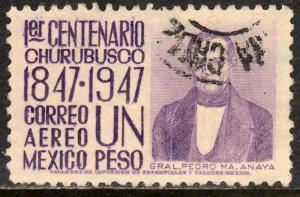 MEXICO C183, $1P 1847 Battles Centennial. Used. (921)