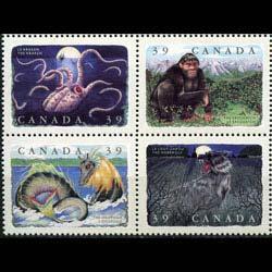 CANADA 1990 - Scott# 1289-92 Legendary Set of 4 NH