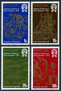 Swaziland 321-324,MNH.Michel 314-314. Discovery of gold,100th Ann.1979.