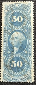 US Revenue #R58c Used Single George Washington SCV $1.75 L37