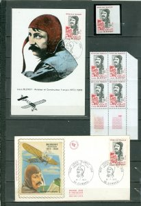 FRANCE 1972 BLERIOT #B457 NICE SELECTION incl IMPERF.