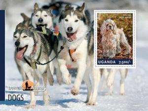 Uganda 2014 - Domestic Animals - Dogs  Stamp Souvenir Sheet 21D-134