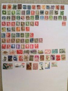 Denmark 100+ stamps - Lot J