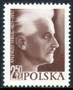 Poland 796, MNH. Andrzej Strug, novelist, 20th death anniv. 1957