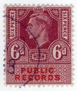 (I.B) George VI Revenue : Public Records 6d