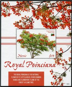 2020 Nevis Royal Poinciana SS (Scott NA) MNH