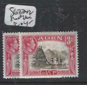 ADEN  (P0406B)  KGVI  3A  SG 22  X2 SHADES  MOG