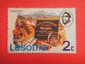 LESOTHO, 1976, used 2c, Tapestry