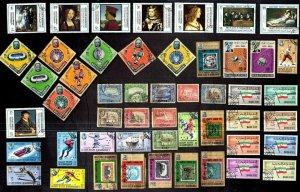 50 ALL DIFFERENT ADEN & STATES & SOUTH ARABIA (type 1)