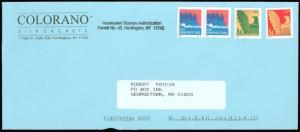 COLORANO SILK CACHETS Corner Card, PLATE # on #3693 NON-PROFIT STAMPS, #10 Env!