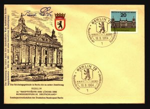 Berlin 1964 Reichstagsgbaude Series FDC / Signed Paul L - Z16006