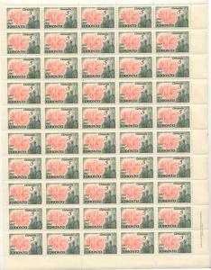 Canada - 1967 Toronto Centenary Plate Sheet VF-NH #475i