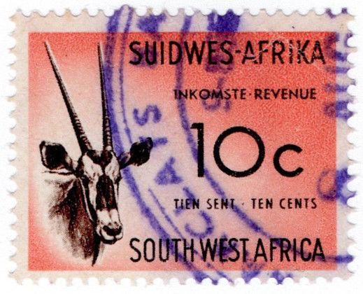 (I.B) South-West Africa Revenue : Duty Stamp 10c