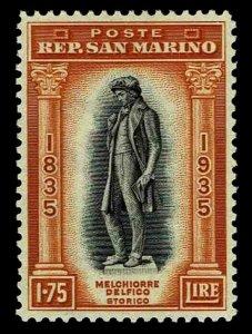 1935 San Marino #180 Statue of Delfico - Unused NG-H - VF - CV$85.00 (ESP#4146)