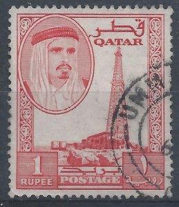 Qatar 1961 - 1r - SG34 used