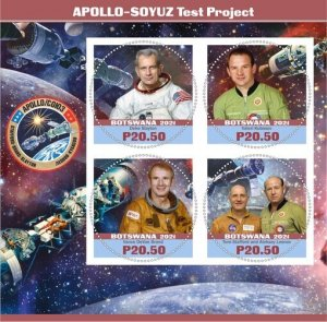 Stamps. Space Apollo Soyuz Set 2 sheet perforated