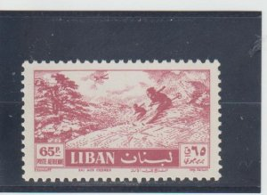 Lebanon  Scott#  C234  MNH  (1957 Skiing)