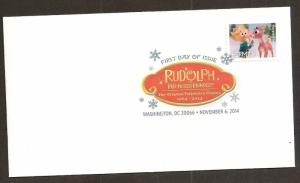 US 4947 Holiday Rudolph Red-Nosed Reindeer Hermey DCP FDC 2014