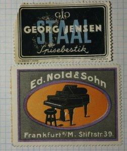 Ed. Nold & Sohn Specializing in Pianos Frankfurt Geram Brand Poster Stamp Ads
