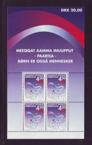 Greenland Sc B27a 2002 Children stamp sheet mint NH