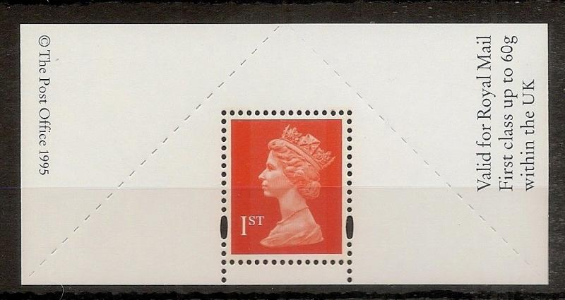GB 1990's 'Boot's Type Label P.O. MNH