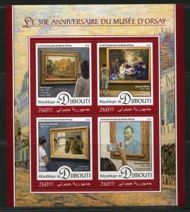 DJIBOUTI 2016 30th  ANNIVERSARY OF THE ORSAY MUSEUM SHEET  MINT NH