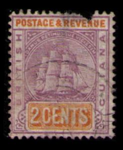 BRITISH GUIANA 1889 2c #132 VINTAGE USED STAMP SEE SCAN FOR CONDITION (V537)