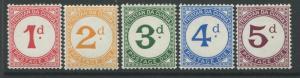 1957 Tristan da Cunha Postage Due set of 5 mint o.g.