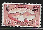 GUADELOUPE, 162, MINT HINGED, SAINTS ROADSTEAD, SURCHARGED