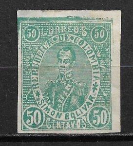 1903-4 Columbia 212 Bolivar 50c MHR