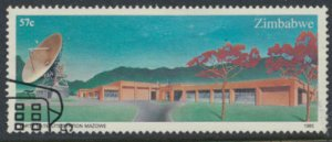 Zimbabwe SG 658  SC# 492  Used   Earth Satellite  Station  see detail and scan