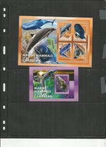 ST KITTS 2014 WHALES SCOTT 865 AND 866 MNH COMPLETE SET