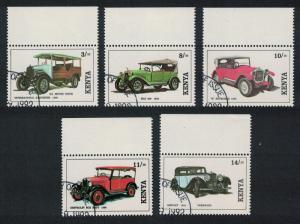 Kenya Vintage Cars 5v CTO SG#575-579 CV£10+