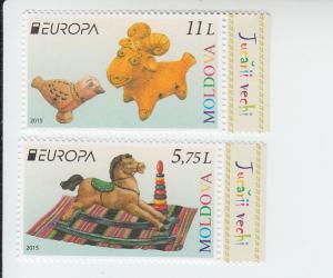 2015 Moldova Europa - Toys (2) (Scott 859-60) MNH